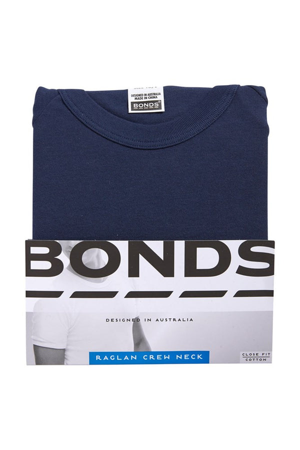 Bonds Raglan Crew Neck Tee (Navy)