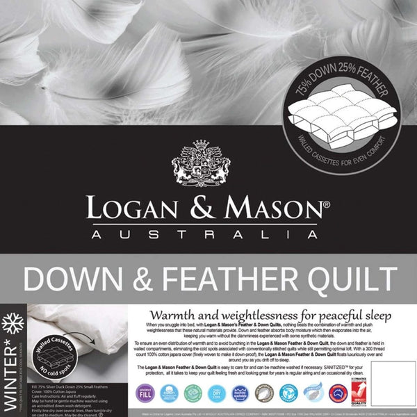 Logan & Mason Down & Feather Quilt (Winter)