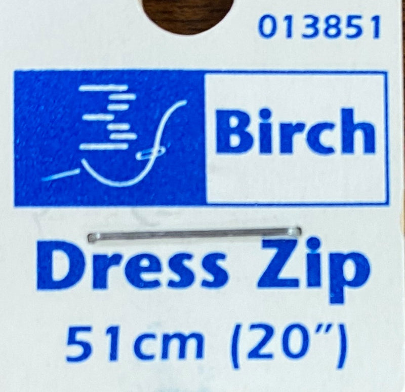 Birch 51cm Dress Zip