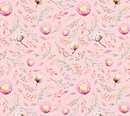 Devonstone Collection A Mother's Love Floral Pink Fabric (DV3463)