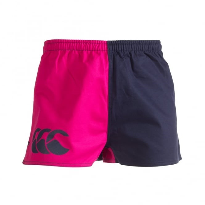 Canterbury Cotton Pink/Navy Harlequin Short Pocket