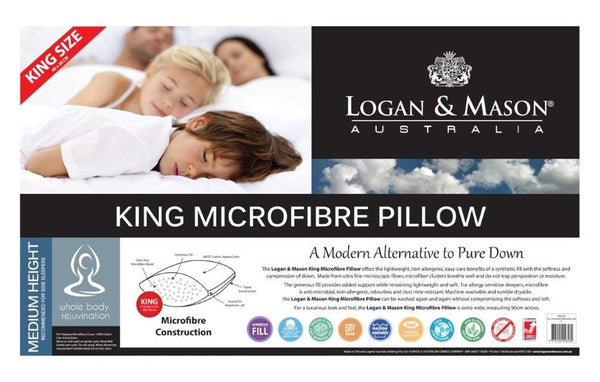 Logan & Mason King Blended Microfibre Medium Pillow