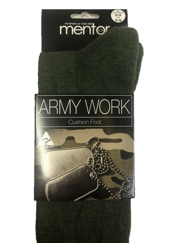 Mentor Army Work Cushion Foot Socks