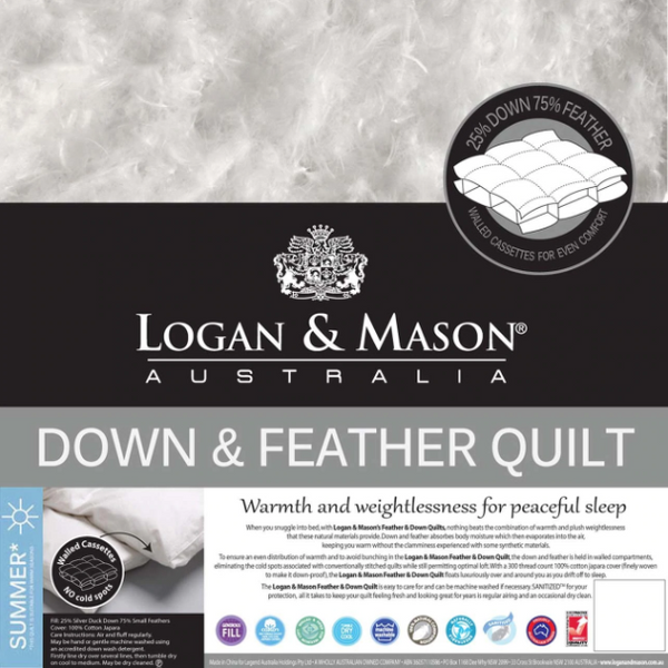 Logan & Mason Down & Feather Quilt (Summer)