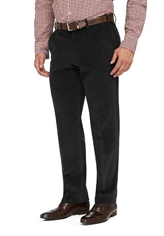 City Club Sutton 12W Cord Pant (Charcoal)