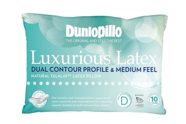 Dunlopillo Dual Contour Profile & Medium Feel Pillow