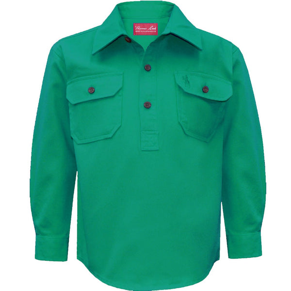 Kids Heavy Cotton Drill Shirt