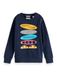 Scotch & Soda Boys Crewneck Artwork Shirt