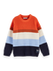 Scotch & Soda Boys Yarn Dyed Stripe Chenille Pullover