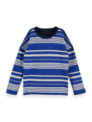 Scotch & Soda Boys Cotton-Blend Long Sleeve Reversible Pullover
