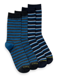 Scotch & Soda Mens 2-Pack Cotton Blend Pattern Socks