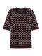 Scotch & Soda Womens Crochet Knitted Tee