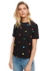 Scotch & Soda Womens Embroidered Happy Face T-Shirt