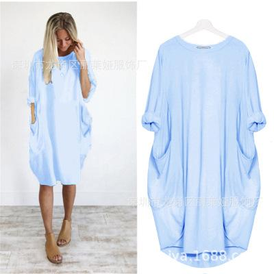 【Only 50% off today】Women's Heart Print Pocket Casual Dress