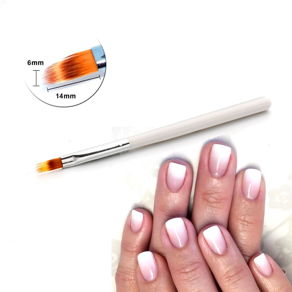FrenchTip™ Oblique Nail Brush