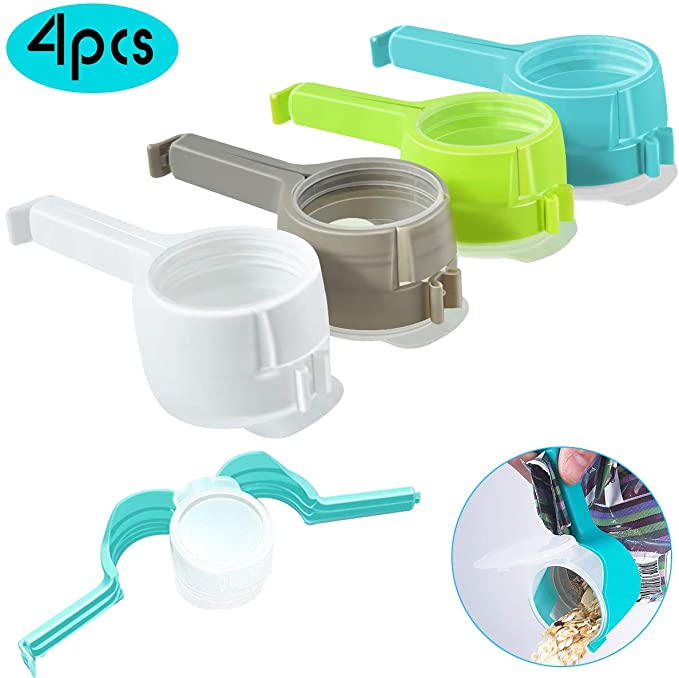 Seal Pour Food Storage Snack Bag Sealing Clamp