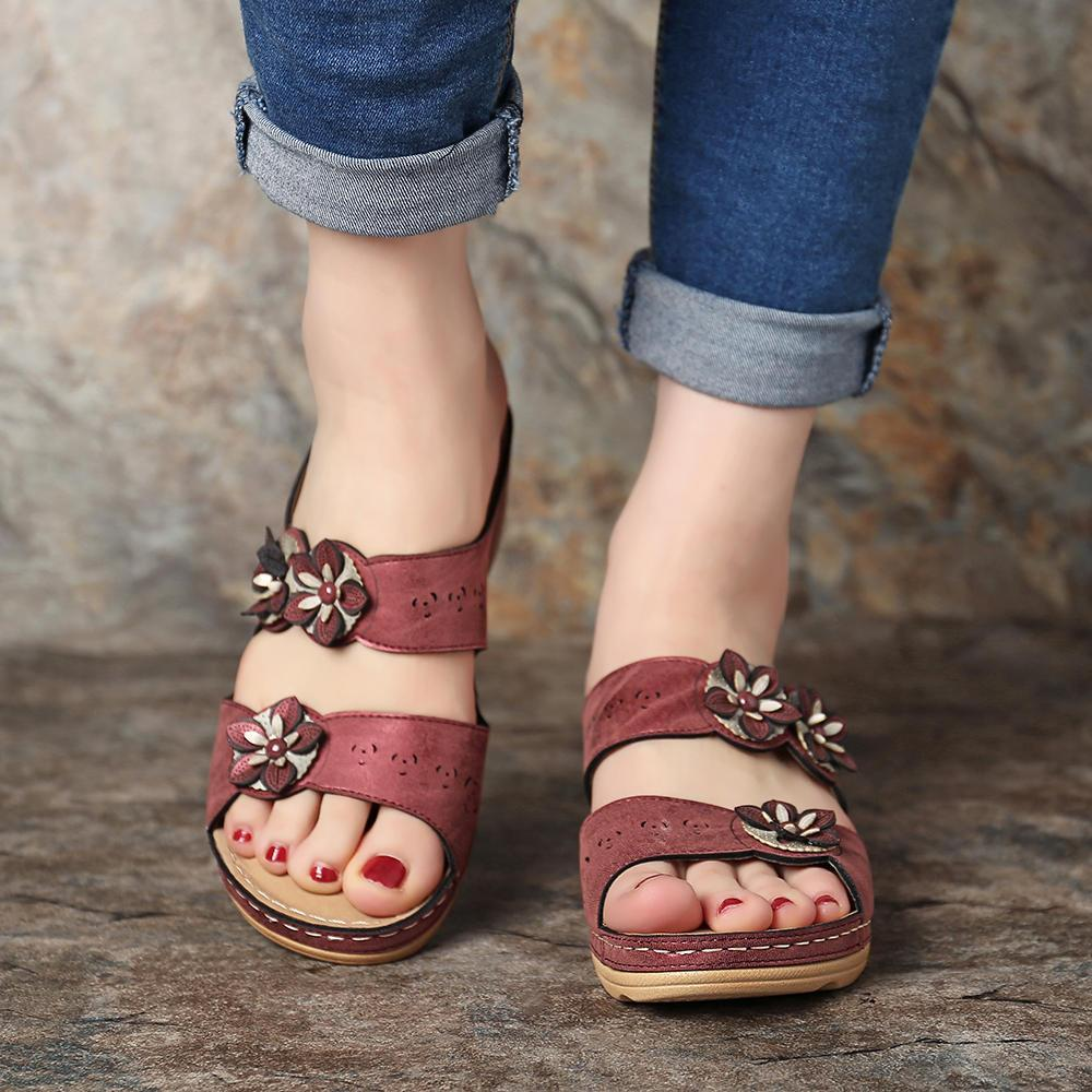 【FREE SHIPPING THIS WEEK & 50%OFF】Fashion Fancy Flower Sandals