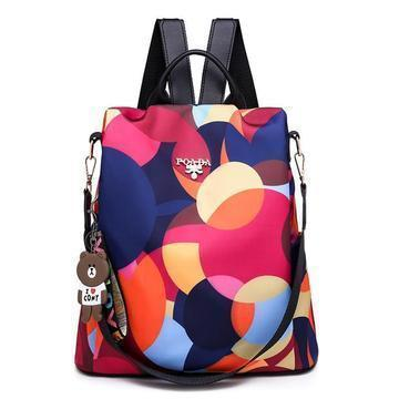 Oxford Printing Design Anti Theft Backpack - Foary