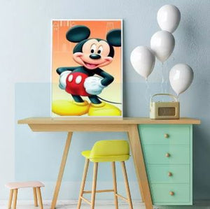 5D DIY Full Drill Diamond Painting Kit Home Decor (Mickey Mouse) 30x40cm