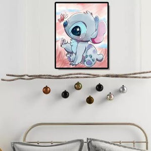 Lilo and Stitch 5D DIY Full Drill Round Diamond Painting