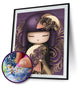 Beautiful Japanese Girl Design ( High Quality Diamond Painting Kit)