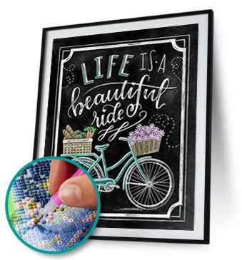 Beautiful Ride Design ( Full Drill High-Quality Diamond Painting Kit)