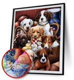 FULL DRILL DOGS Design (HIGH QUALITY DIAMOND PAINTING KIT)