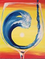 Glass of Water Design ( High Quality Diamond Painting Kit)
