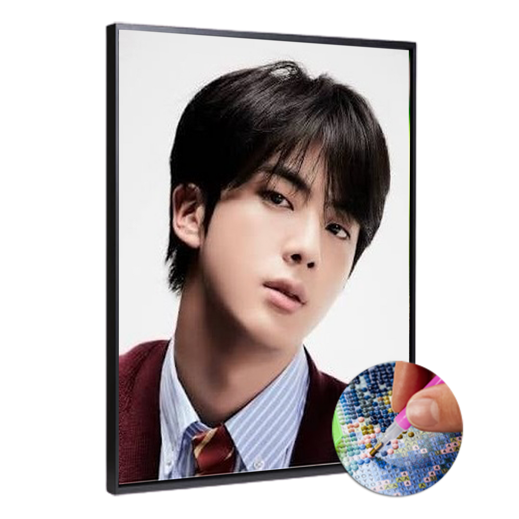 BTS JIN (High Quality Diamond Painting Kit)