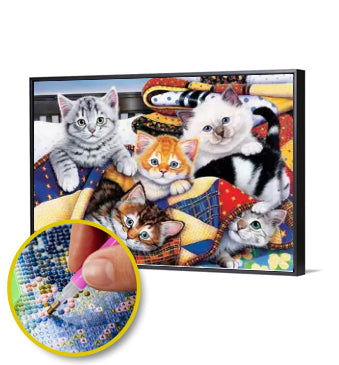 5D DIY DIAMOND PAINTING CAT FAMILY