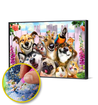 5D DIY DIAMOND PAINTING FUNNY ANIMALS