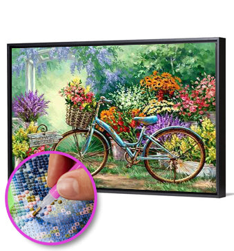 5D DIY Full Drill Diamond Painting Garden Bike