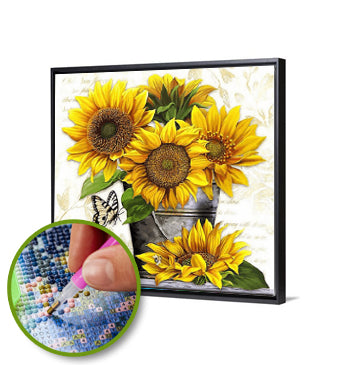 5D DIY Full Drill Diamond Painting Sunflower / Diamond Painting MNL
