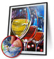 WINE GLASS 5D DIY FULL DRILL ROUND DIAMOND PAINTING