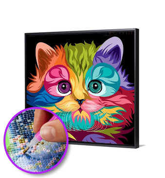 5D DIY Full Drill Diamond Painting Colorful Cat
