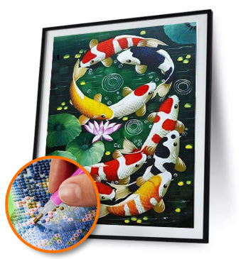 5D FULL DRILL DIY DIAMOND PAINTING KOI / DIAMOND PAINTING MNL