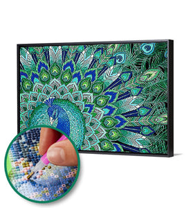 Special Shaped Diamond Painting Peafowl