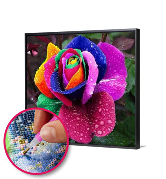5D DIY Full Drill Diamond Painting Novelty Flower