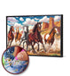 5D Full Drill Diamond Painting Kit / HORSES