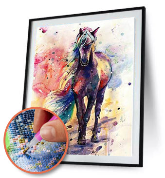 Abstract Horse 5D DIY Full Drill Round Diamond Painting
