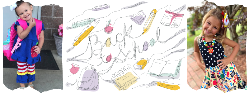 Back To School Clothes Banner