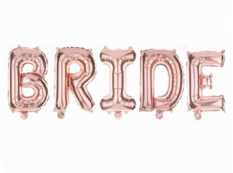Rose Gold BRIDE Banner