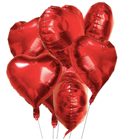 "18"" Red Heart Balloons (3pk)"