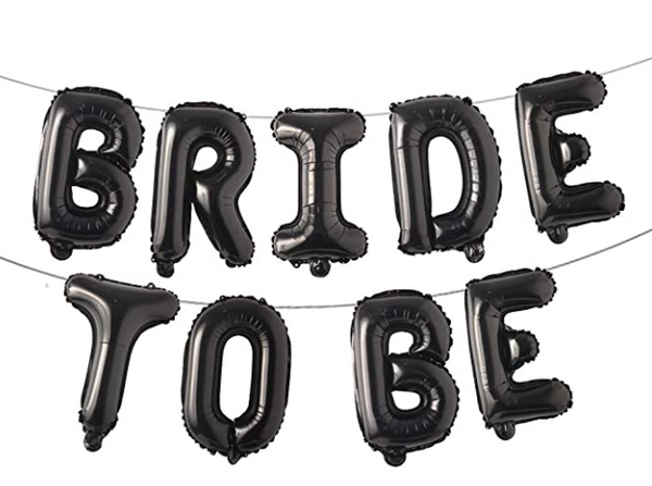 Bride To Be Black Banner