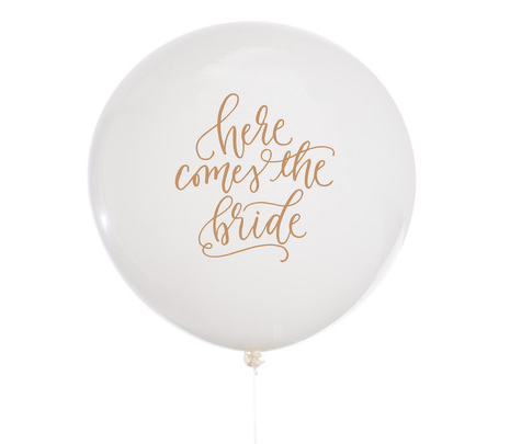 'Here Comes The Bride' Jumbo Balloon