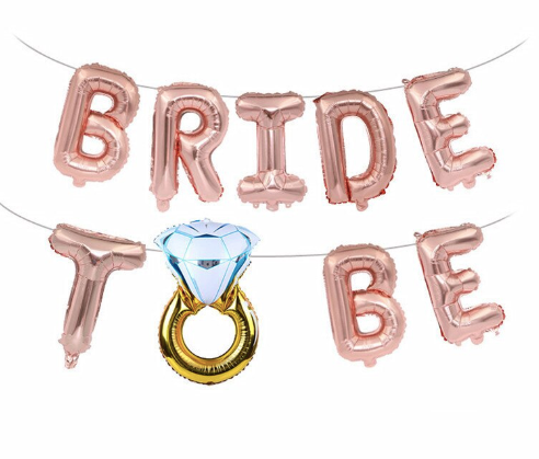 'Bride To Be' Rose Gold Banner