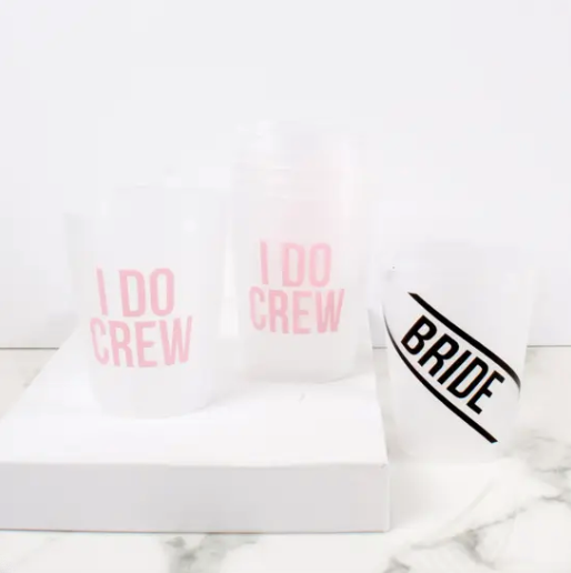 Bride/Crew- Reusable Cup Set