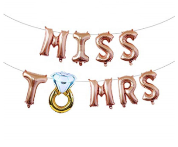 'Miss To Mrs' Rose Gold Banner