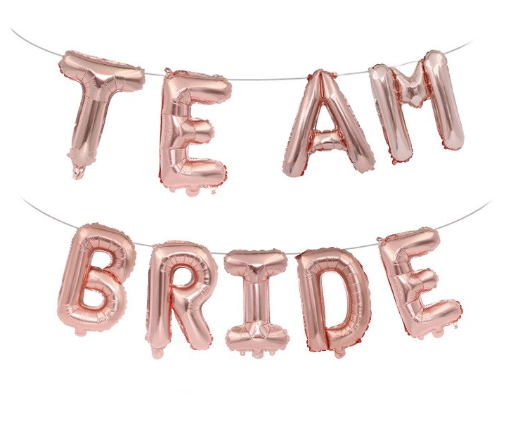 'Team Bride' Rose Gold Banner