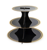 Black & Gold Paper Cake Stands